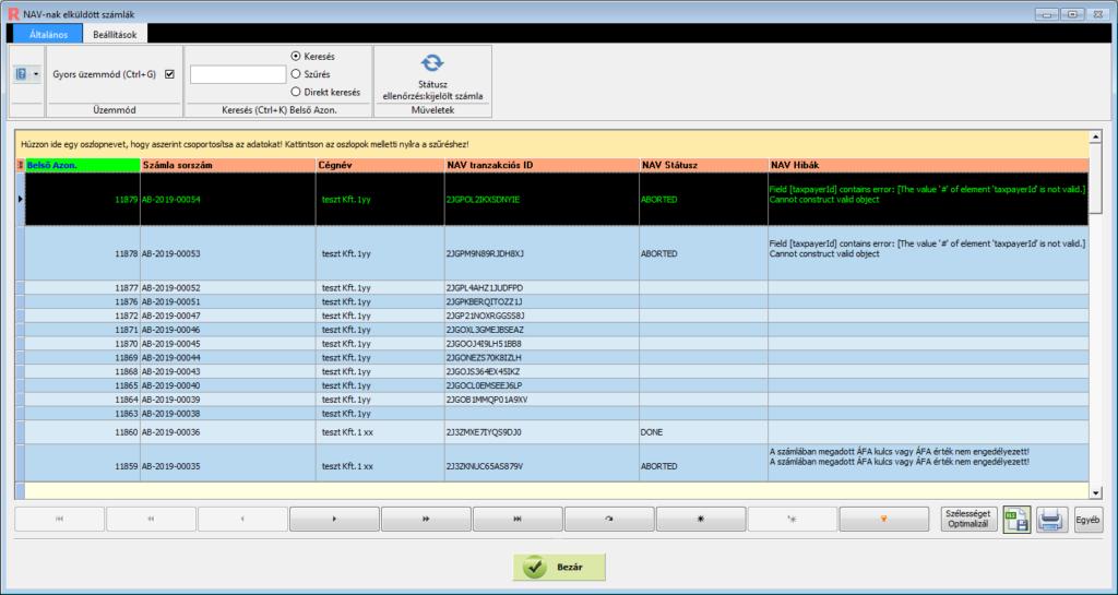 NAV kötelező online adatszolgáltatás